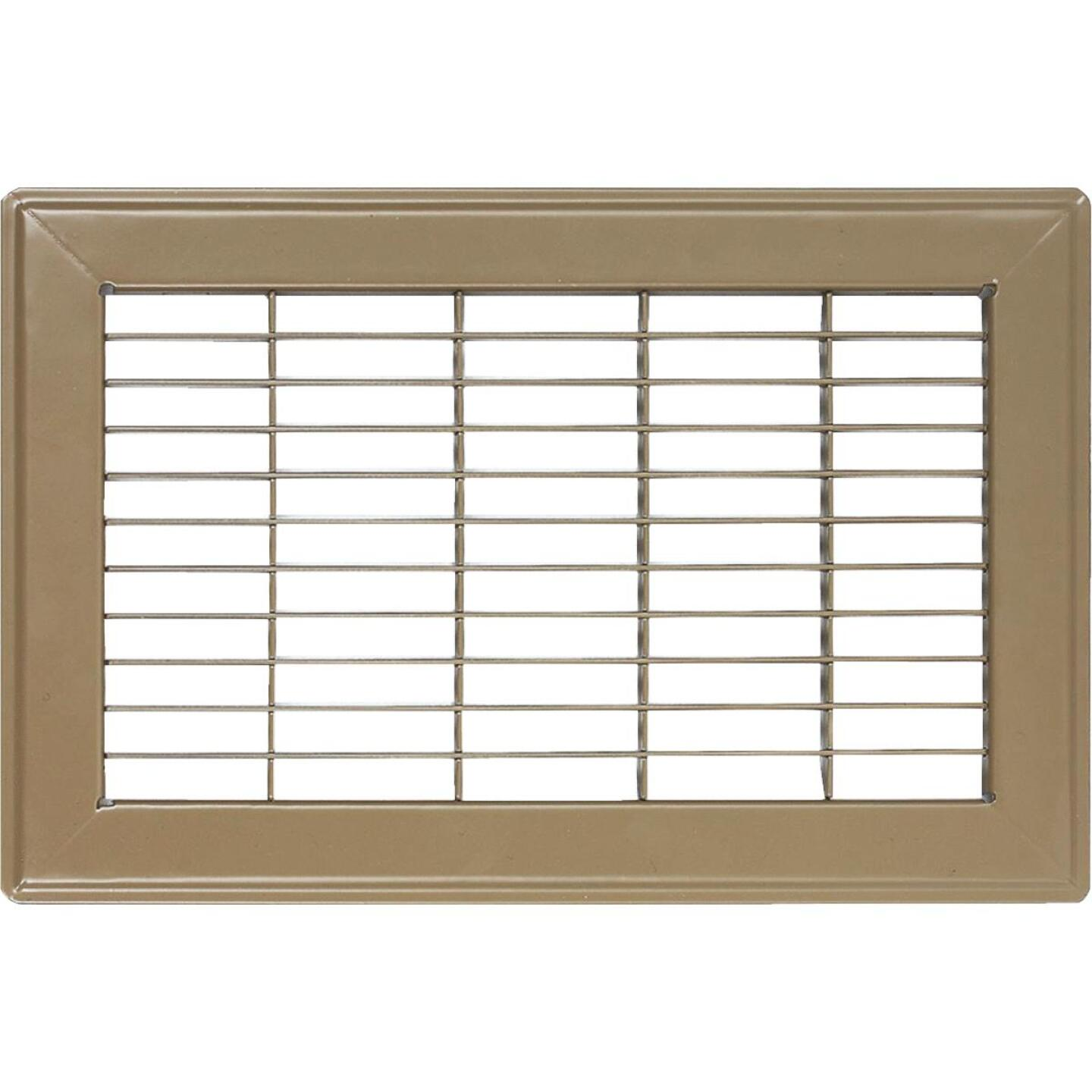 Accord 10 In. x 12 In. Brown Steel Floor Register Image 1